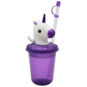 Imagen de Vaso de plástico, con luz, tapa con sorbito, 350ml, varios diseños infantiles