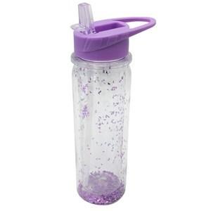 Imagen de Botella deportiva con sorbito retráctil, 750ml, con brillantina, varios colores