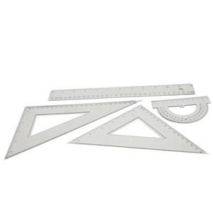 Imagen de Juego de geometría 4 piezas, 30cm, en sobre de PVC