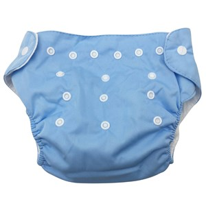 Imagen de Pañal de tela ecológico mediano, ajustable, con inserto absorbente, en bolsa, varios colores