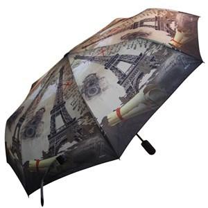 Imagen de Paraguas corto automático, antiviento, 8 varillas de silicona, con funda, varios diseños