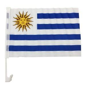 Imagen de Bandera con soporte, URUGUAY, para auto
