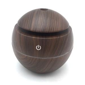 Imagen de Humidificador con luz led, símil madera, en caja