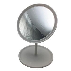 Imagen de Espejo móvil con pie, aro con luz, 28 led, recargable con cable USB, 2 colores, en caja