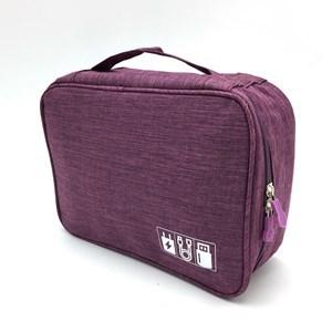 Imagen de Neceser para viaje, con cierre, 8 sujetadores  de cables, bolsillo interior con cierre, varios colores
