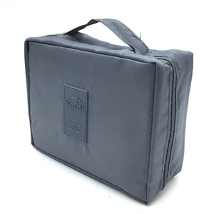 Imagen de Neceser para viaje, con cierre, 3 compartimientos, 4 bolsillos, varios colores