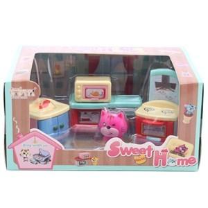 Imagen de Muebles para muñecas, 5 piezas, en caja