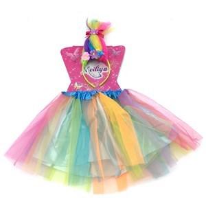 Imagen de Disfraz pollera, con tiara, trolls, en bolsa