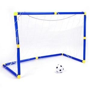 Imagen de Arco de fútbol de plástico, x2, con pelota e inflador, en caja