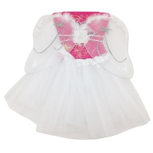 Imagen de Disfraz pollera, con alas de angelito, color blanco, en bolsa