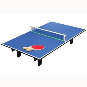 Imagen de Mesa de mini pong, para apoyar, de MDF, con red, paletas y pelotas