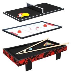 Imagen de Mesa de mini pong, con tejo y pool, 3en1, MDF