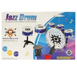 Imagen de Batería 6 tambores y platillos, con banco, en caja, 2 colores