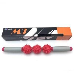 Imagen de Rodillo masajeador, 3 pelotas con pinchos y mango forrado en goma EVA, en caja, varios colores