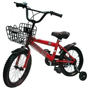 """Imagen de Bicicleta rodado 16"""", con canasto, caramañola, timbre, rueditas de aprendizaje, ROJA, en caja"""