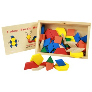 Imagen de Puzzle de madera 60 piezas, mosaico, en caja de madera
