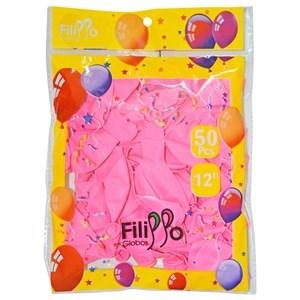 "Imagen de Globo 12"" FILIPPO rosado, bolsa x50"