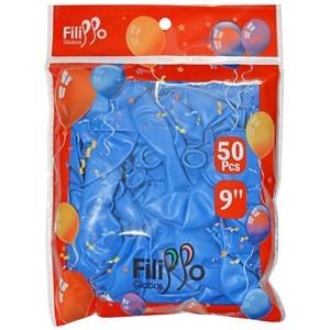 "Imagen de Globo 9"" FILIPPO azul, bolsa x50"