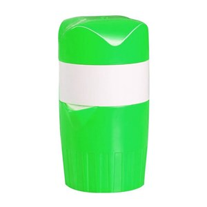Imagen de Exprimidor de plástico, con protector para hacer  presión, 3 piezas, 2 colores