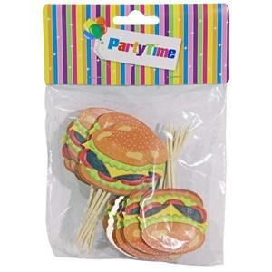 Imagen de Pinchos con adornos para cupcakes, bolsa x24, surtidos