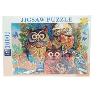 Imagen de Puzzle 1000 piezas, diseño bíhos, en caja