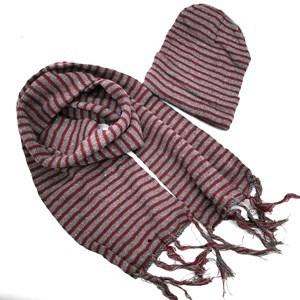 Imagen de Gorro y bufanda a rayas, en bolsa