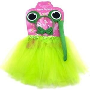 Imagen de Disfraz pollera, tiara con ojos, en bolsa