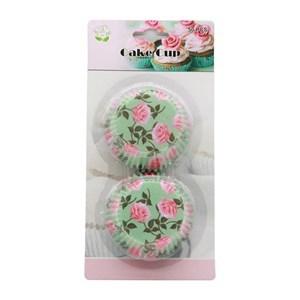 Imagen de Molde de papel pirotines para cupcakes con diseño, x50, en blister