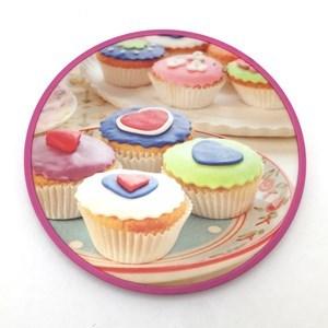 Imagen de Base giratoria de vidrio, para presentar o decorar tortas