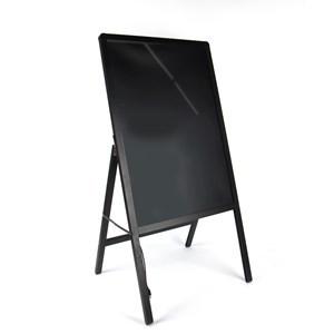 Imagen de Pizarra cartel led con pie, marco de metal con franela, en caja