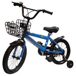 "Imagen de Bicicleta rodado 16"", con canasto, caramañola, timbre, rueditas de aprendizaje, AZUL, en caja"