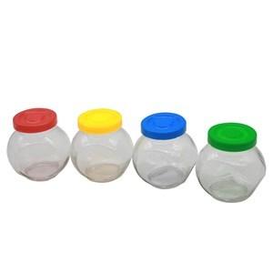 Imagen de Especiero de vidrio x4, con tapa de plástico, en caja