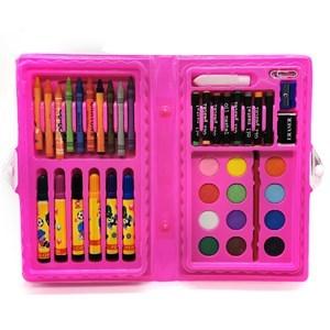 Imagen de Maletín escolar, 42 piezas, contiene marcadores, crayolas, pasteles, acuarelas, y varios accesorios