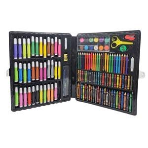 Imagen de Maletín escolar, 150 piezas, contiene marcadores, lápices, crayolas, pasteles, acuarelas, y varios accesorios