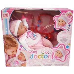 Imagen de Bebote con sonido, con set de doctor, presiona la barriga y llora, 3AA, en caja