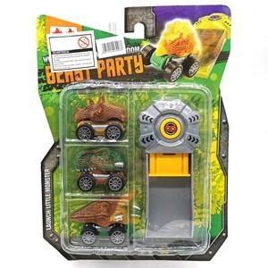 Imagen de Auto dinosaurio x3 con lanzador, en blister