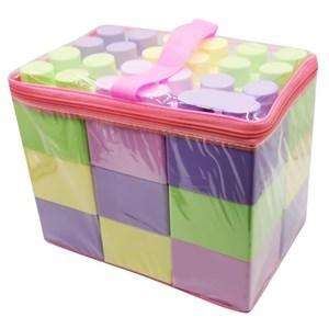Imagen de Blocks x18 piezas de plástico grandes 9x7x9cm, en bolsa de PVC
