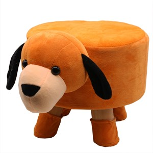 Imagen de Banquito infantil de madera, forro poliéster desmontable, varios diseños de animales