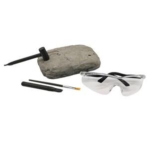 Imagen de Dinosaurio juego de arqueología, esqueleto y accesorios, contiene fósil, antiparras, pincel, cincel, martillo, en caja