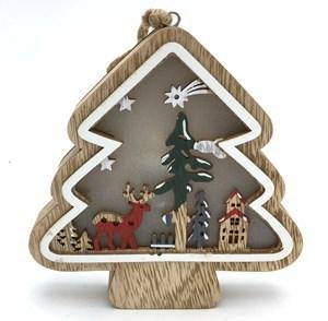 Imagen de Adorno navideño árbol con luz