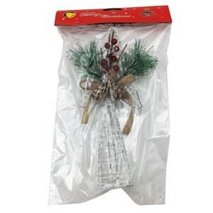 Imagen de Adorno navideño puntero estrella con moña, en bolsa