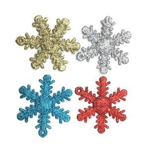 Imagen de Adorno navideño copo de nieve x4 en bolsa