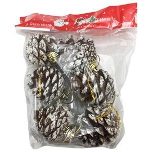 Imagen de Adorno navideño piñas x6, en bolsa