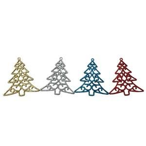 Imagen de Adorno arbolito navideño para colgar x4, en bolsa