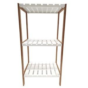 Imagen de Mueble estantería de bambú y MDF, 3 estantes