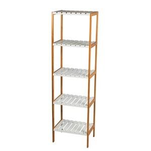 Imagen de Mueble estantería de bambú y MDF, 4 estantes