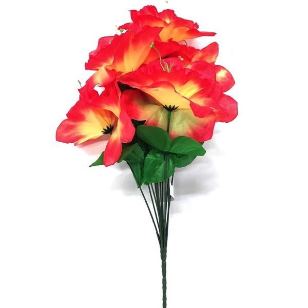 Imagen de Ramo 12 flores de hibiscos dobles, varios colores