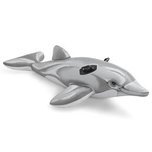 Imagen de Inflable  delfín con agarres, en caja, INTEX