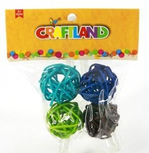 Imagen de Adorno, bola decorativa x4, en bolsa, varios colores