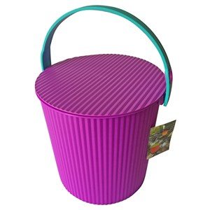 Imagen de Balde de plástico, con tapa, sirve para sentarse